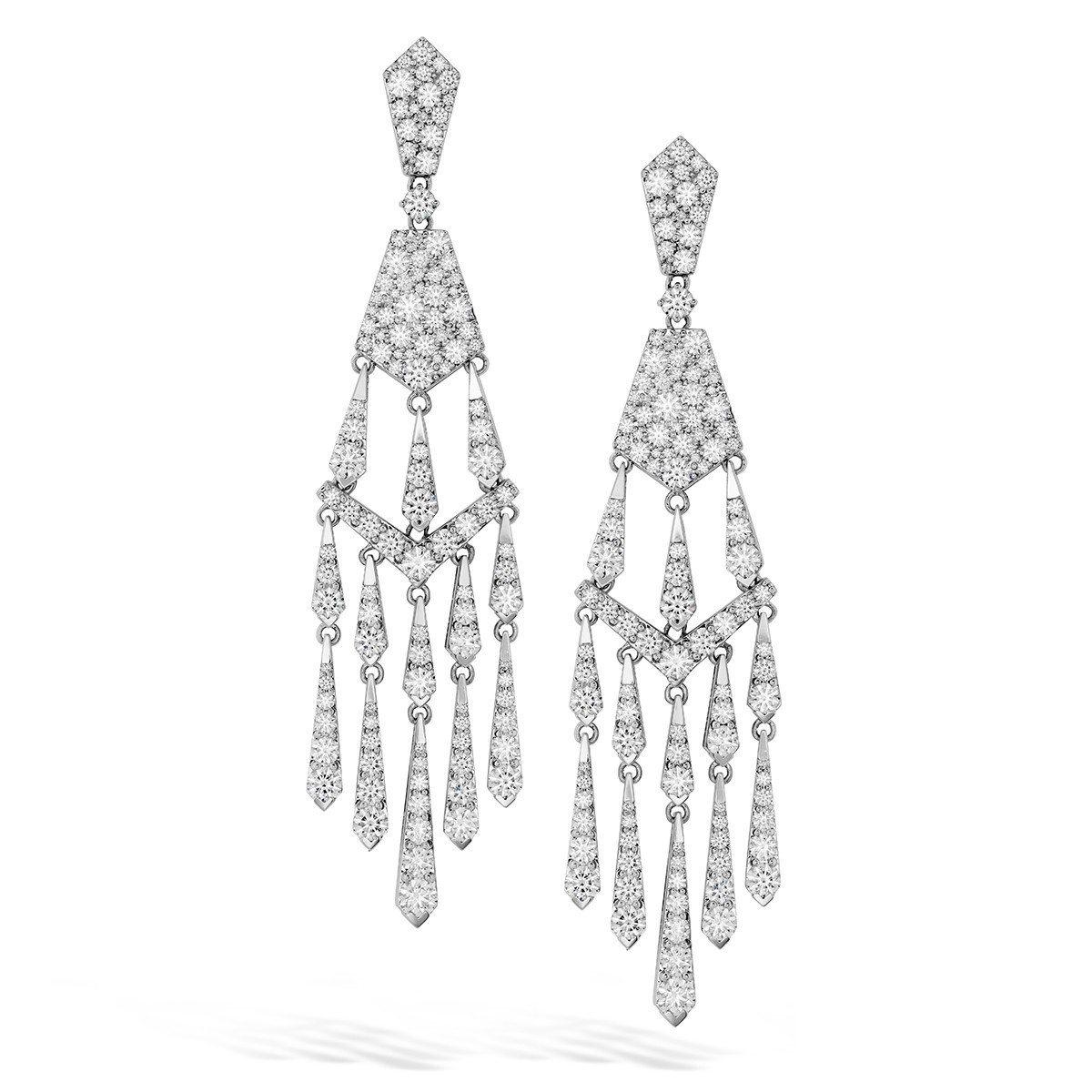 WhiteKites鑽石耳環,18K白金鑽石總重11.10克拉,265萬元起。圖...