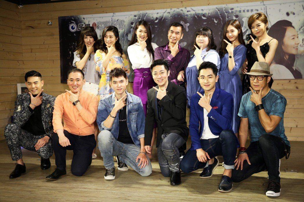 《微笑。淚》演員群出席試片會為新戲宣傳。記者徐兆玄/攝影