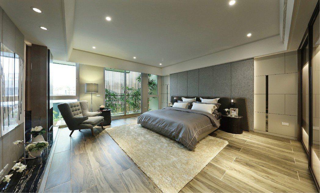 繁華入夢.書香流動:在這極品住宅中,主臥室被視為主人空間規劃的主角,不再只是建築...