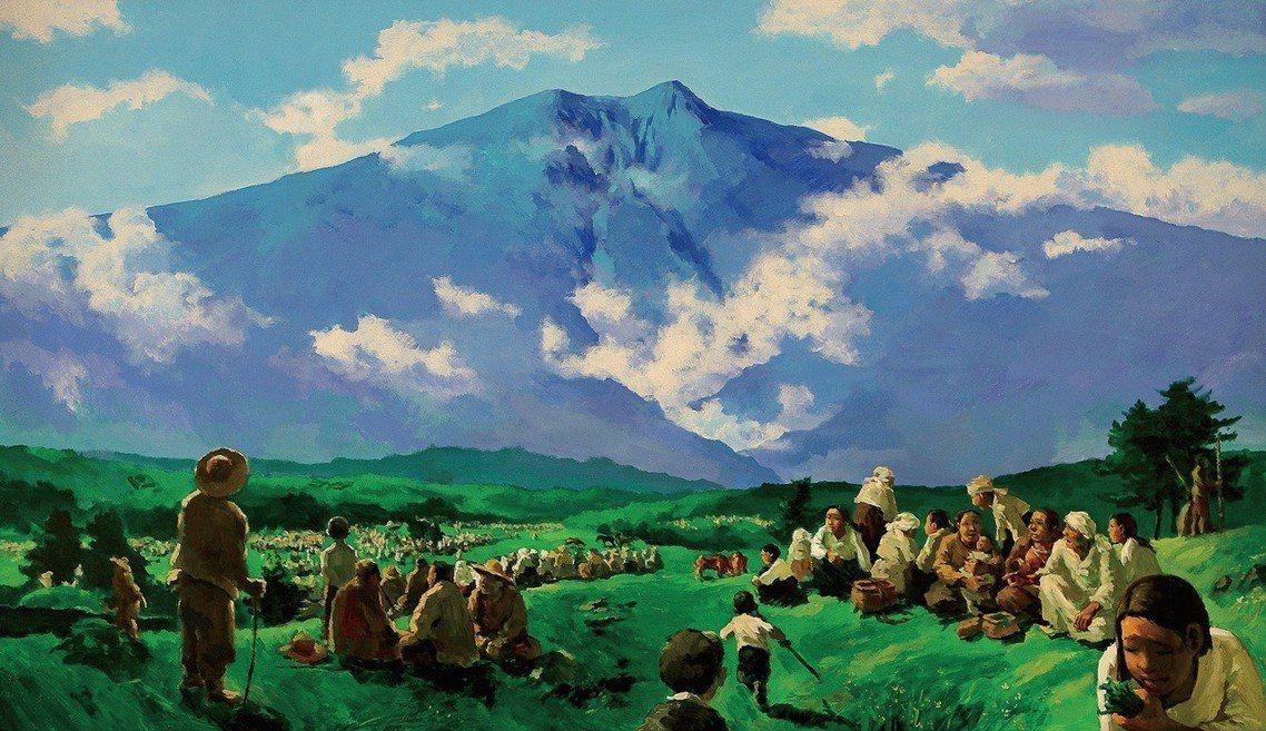 圖為濟州島出身的名畫家姜堯培,描繪在四三事件中,抵制五一〇選舉的濟州島民,躲藏到...