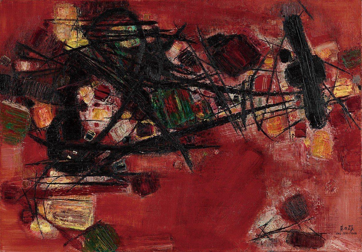 朱德群 紅肥綠瘦 油畫畫布 87x116cm 1959 HKD 61,554,5...