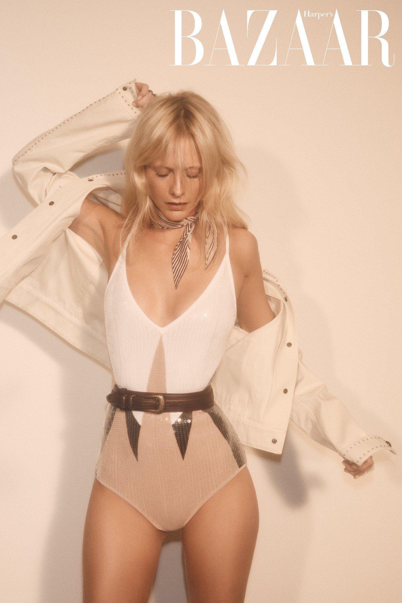 亮片泳裝、外套、領巾、腰帶、戒指,Bottega Veneta