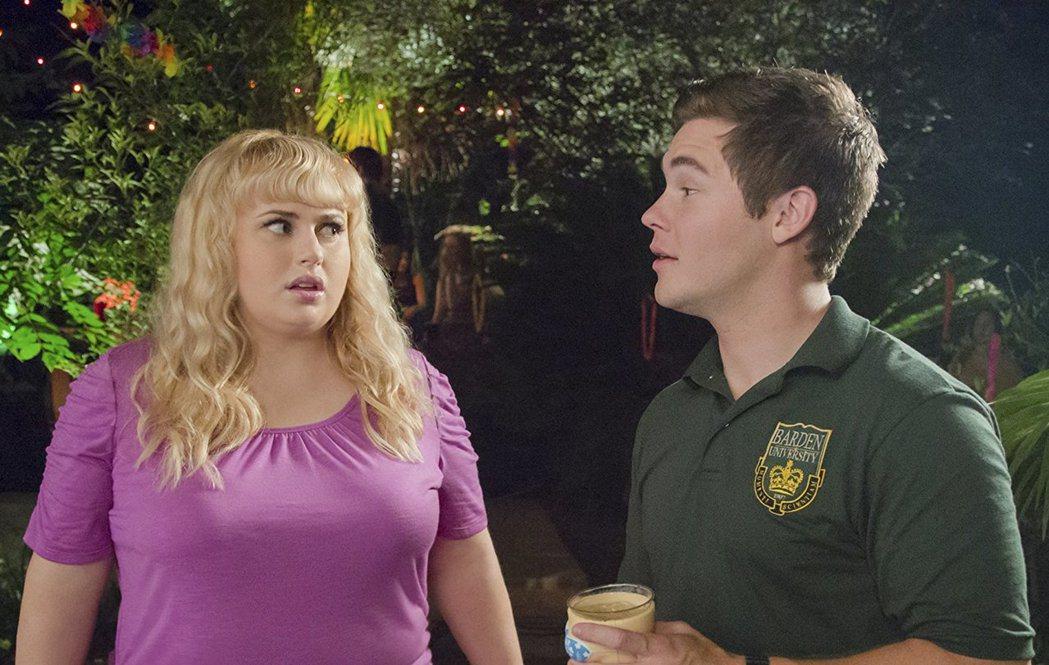 亞當迪凡(右)因在「歌喉讚」系列的搞笑演出為觀眾熟知。圖/摘自imdb