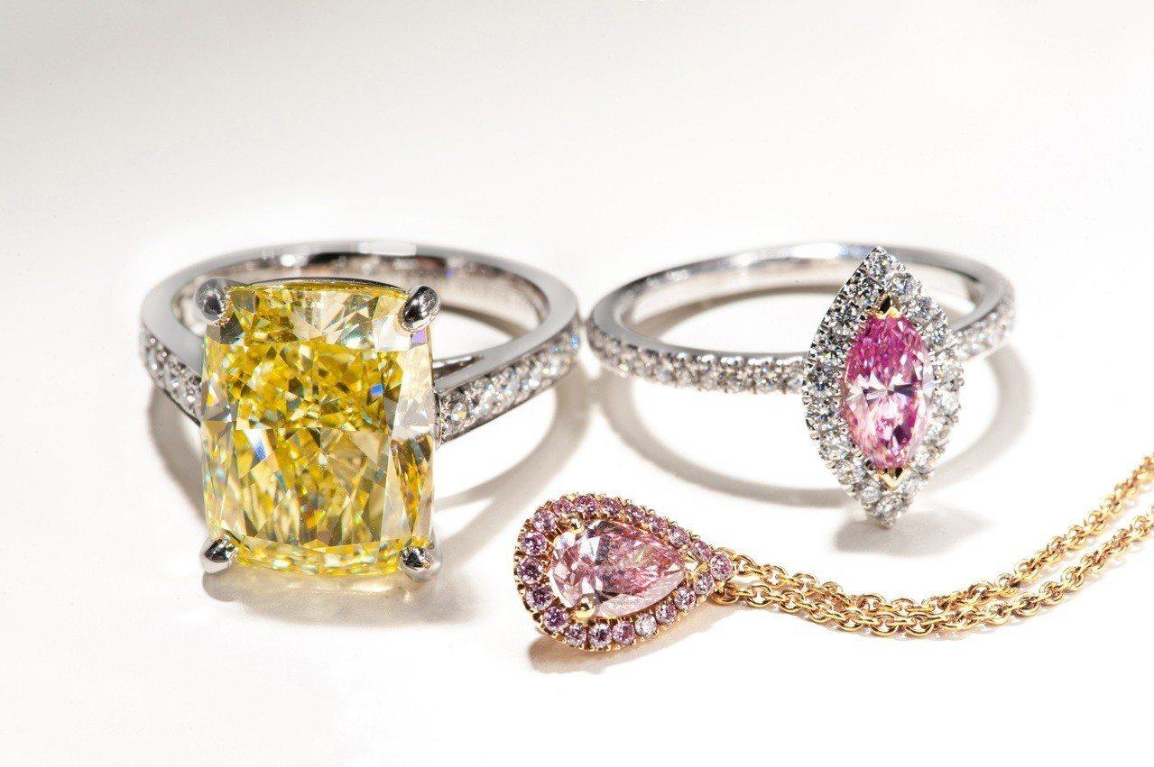 De Beers 於台北101旗艦店高級珠寶展中,呈獻許多精湛動人的高級珠寶作品...