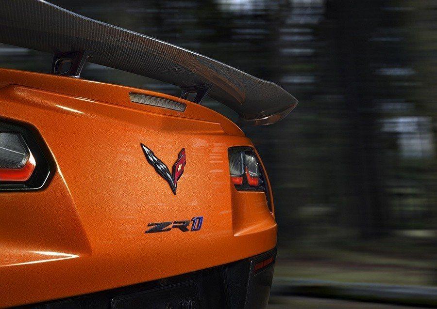 Chevrolet Corvette ZR1 巨型GT尾翼。 Chevrolet...