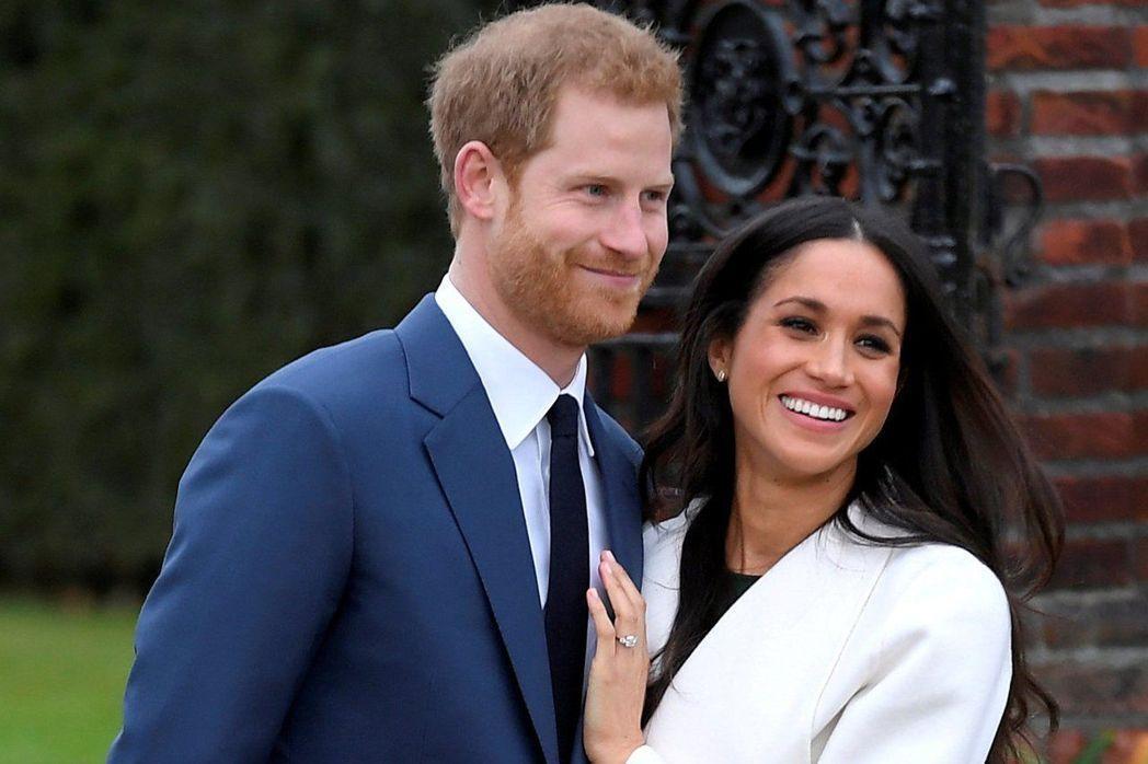 哈利王子(左)與美國女星梅根馬克爾(右)將在今年春天完婚。圖/路透
