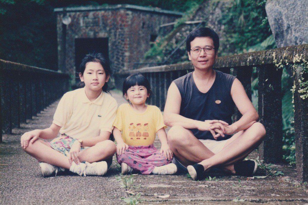 Selina和妹妹、爸爸小時候常一起出去玩。圖/台灣雀巢提供
