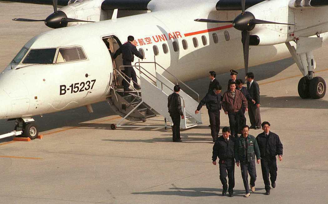 大陸劫機犯劉保才等九人,當年由幹員解送金門。 圖/聯合報系資料照片