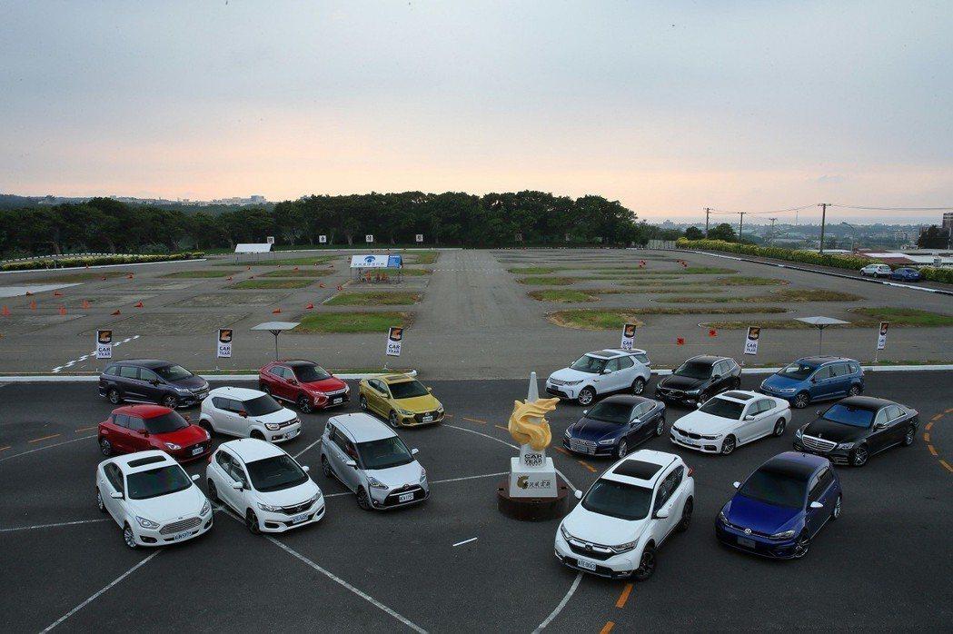 2018 車訊風雲獎 年度風雲車及各級距得獎車款。 圖/台灣寶路多提供