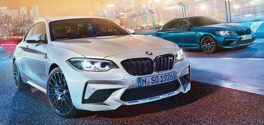 BMW M2 Competition。 摘自carscoops