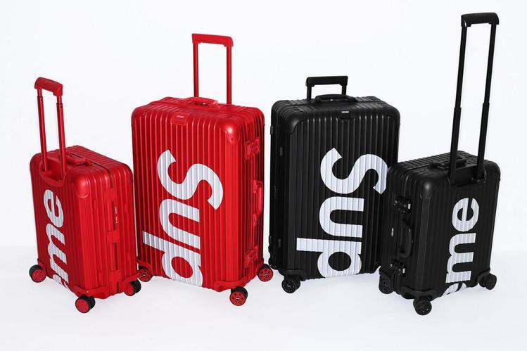 人氣潮牌Supreme與德國頂級行李箱品牌RIMOWA聯名合作推出黑、紅兩色兩尺...
