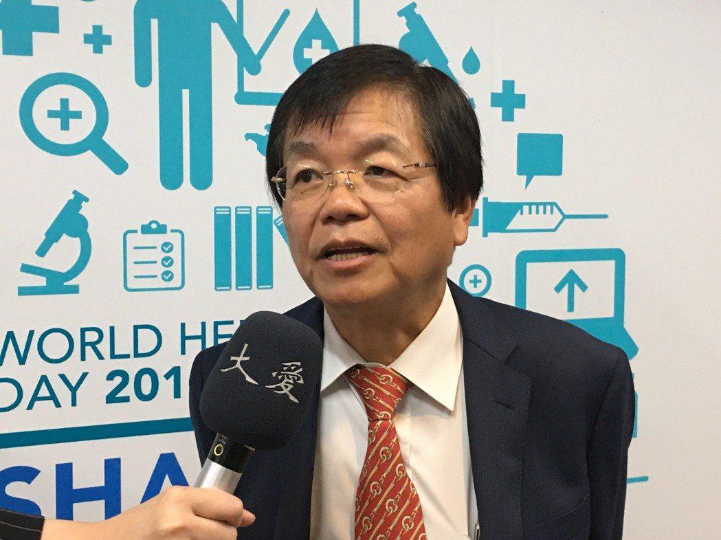 台灣血栓暨止血學會理事長彭慶添。 記者鄧桂芬/攝影