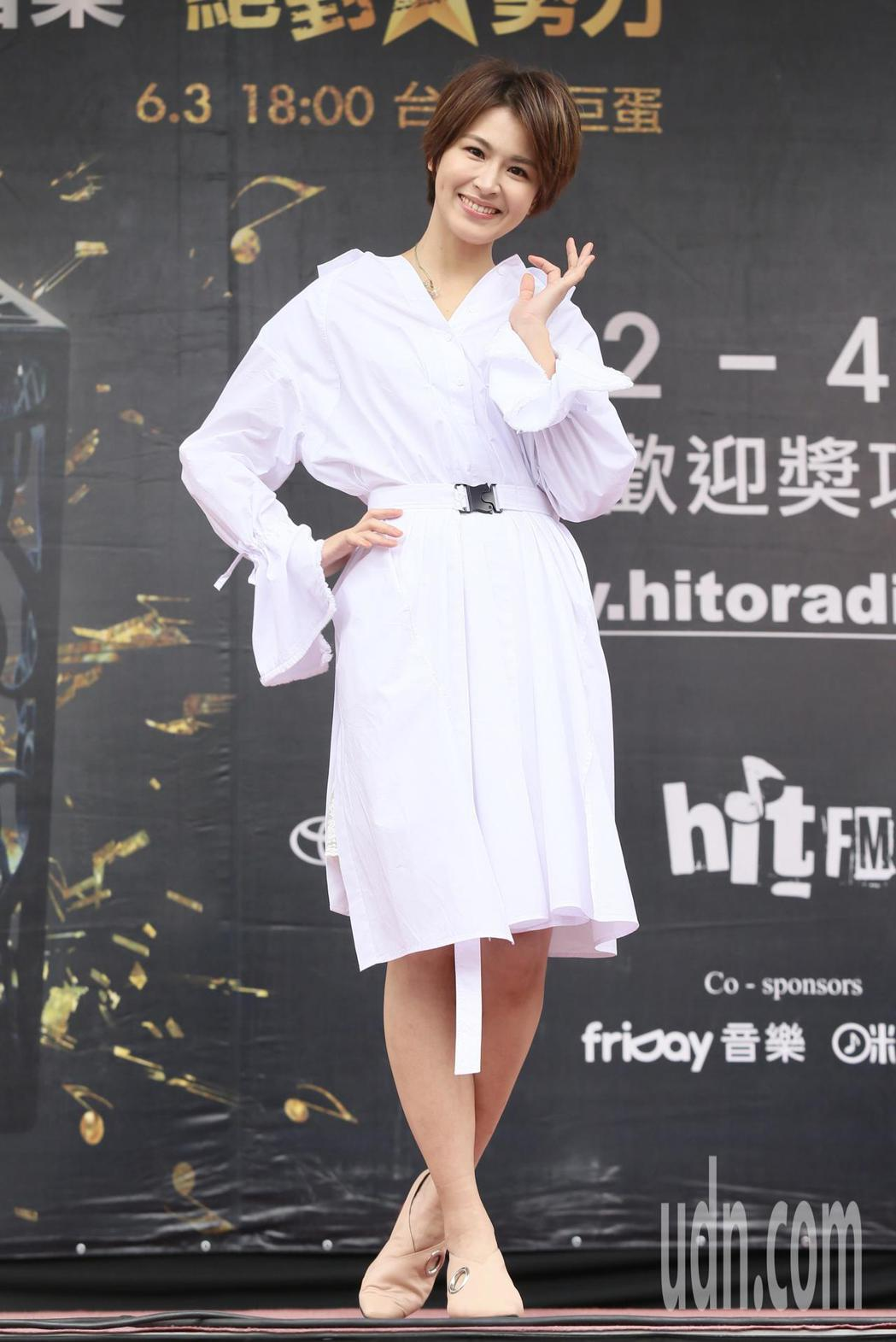 入圍最受歡迎女歌手的曾沛慈現身Hito流行音樂獎台北西門紅樓造勢活動。記者林伯東...