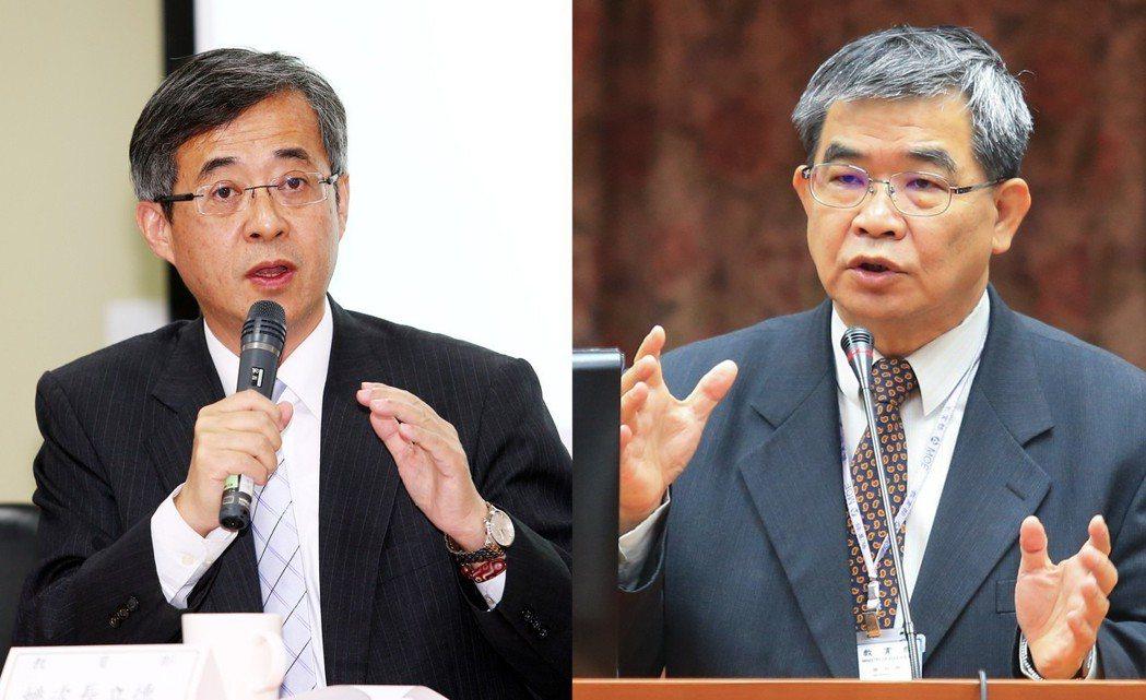 教育部政務次長姚立德(左)、政務次長蔡清華(右)請辭。圖/本報資料照