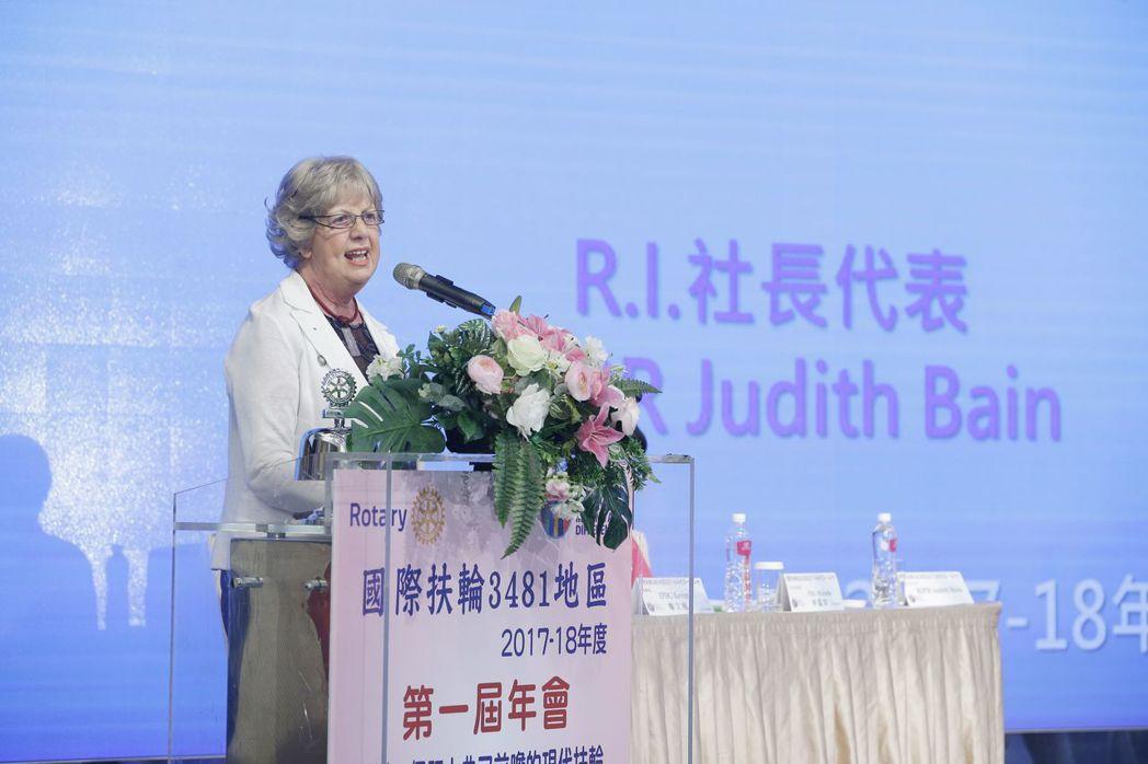 RI社長代表RIPR Judith Bain致詞。
