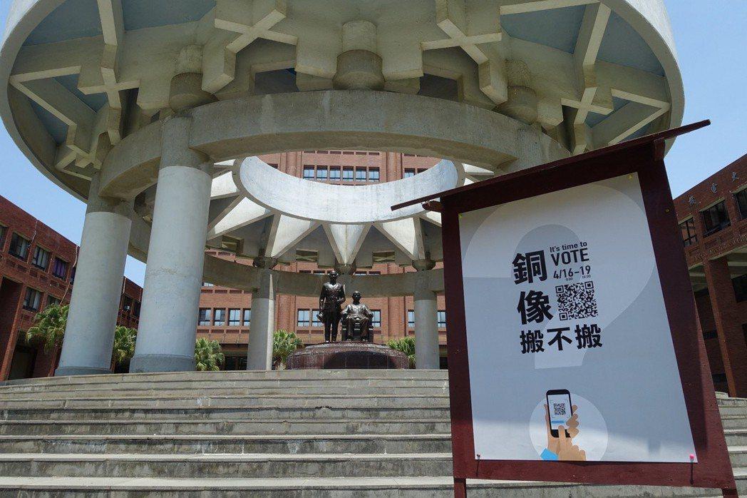 中山大學辦網路公投,決定銅像去留。記者徐如宜/攝影