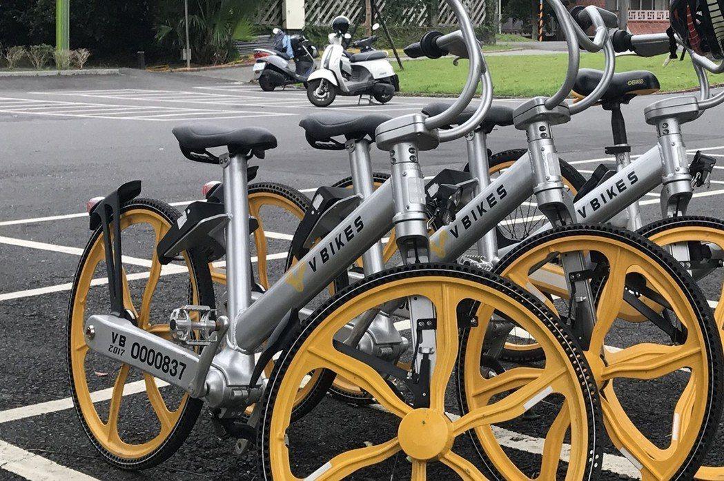 無樁式共享單車V BIKES去年進軍台灣,但業者16日表示,由於在拓展據點上沒有...