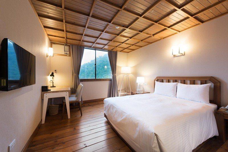 棲蘭山莊歐式雙人房。圖/力麗觀光提供
