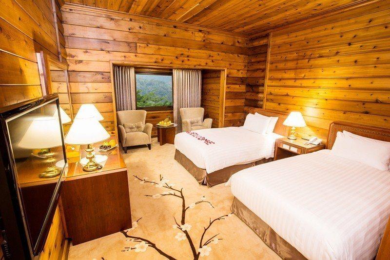 日月潭館精緻山景雙人房。圖/力麗觀光提供