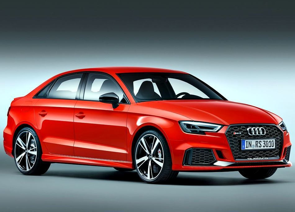 2018 Audi RS3 Sedan。 摘自 Audi