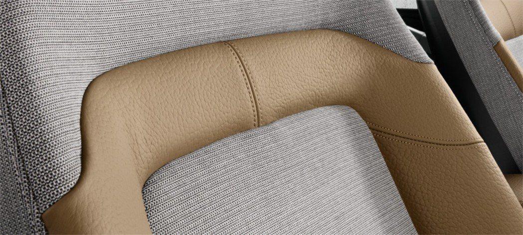 bmw i3在座椅上運用了34% PET製造的回收聚酯製成。 圖/BMW提供
