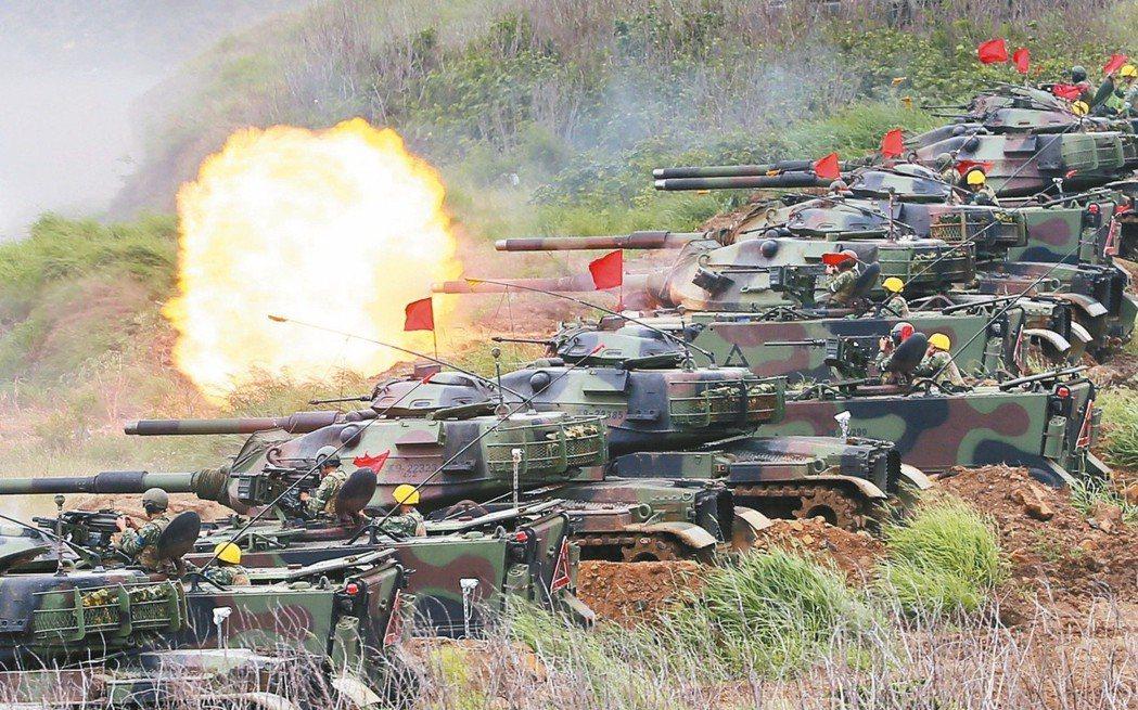 去年漢光卅三號演習在澎湖實施三軍聯合反登陸作戰操演。本報資料照片