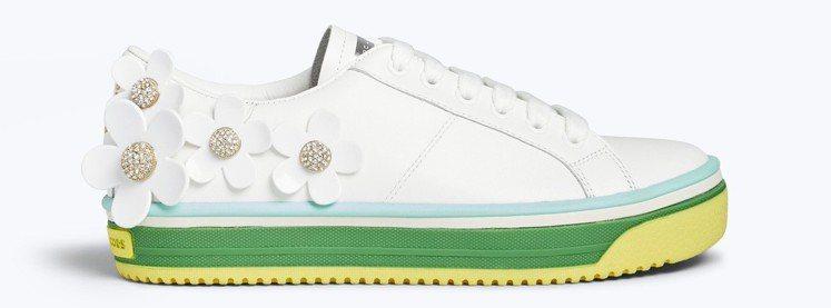 立體小雛菊白色休閒鞋,11,990元。圖/Marc Jacobs提供