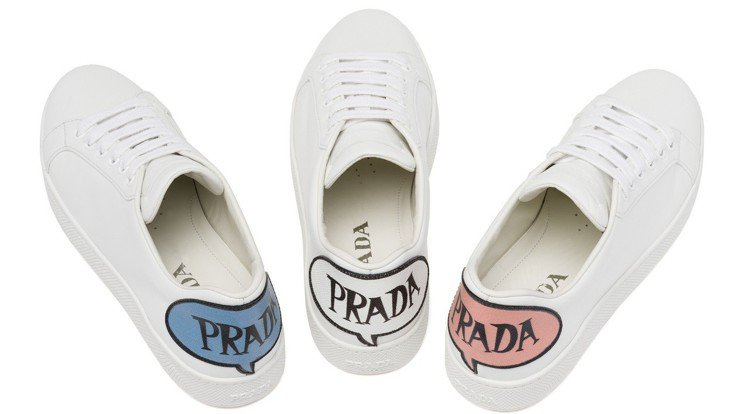 動漫系列LOGO休閒鞋,23,000元。圖/PRADA提供