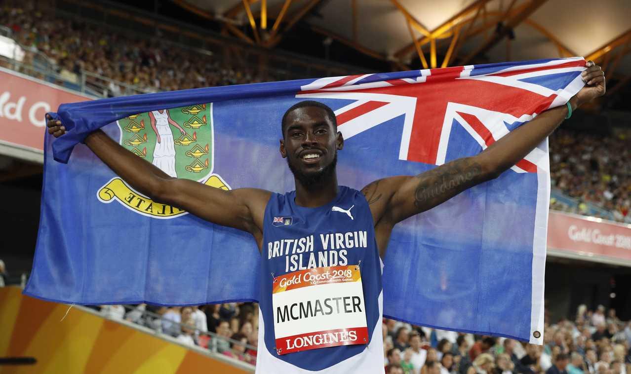 馬克馬斯特12日奪下大英國協運動會400公尺跨欄金牌,他要把榮耀獻給在厄瑪風災中...