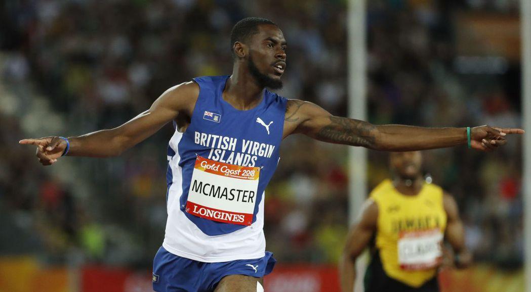 馬克馬斯特12日在大英國協運動會400公尺跨欄跑出48.25秒優異成績,只差半秒...