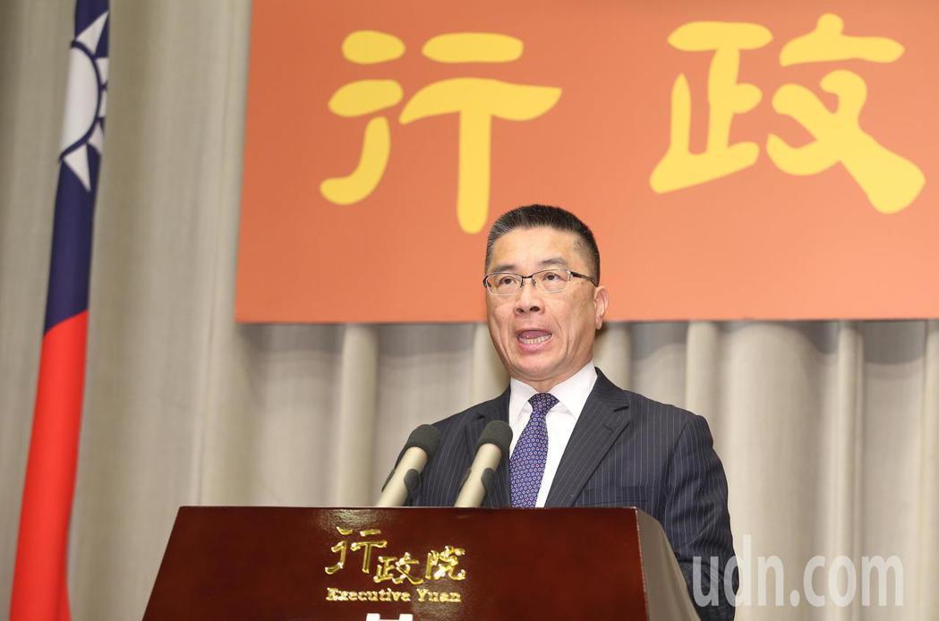 政院發言人徐國勇宣布前東華大學校長吳茂坤接任教育部長一職。記者陳正興/攝影