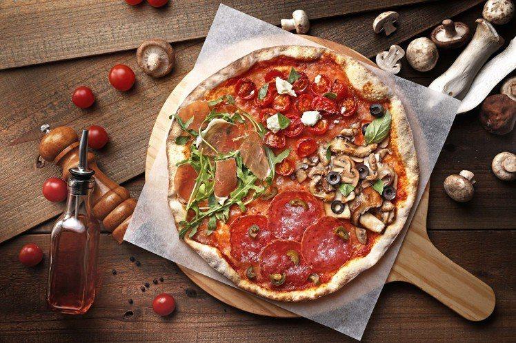 四季義式披薩可一次吃到春夏秋冬四種風味。圖/Bellini Pasta Past...