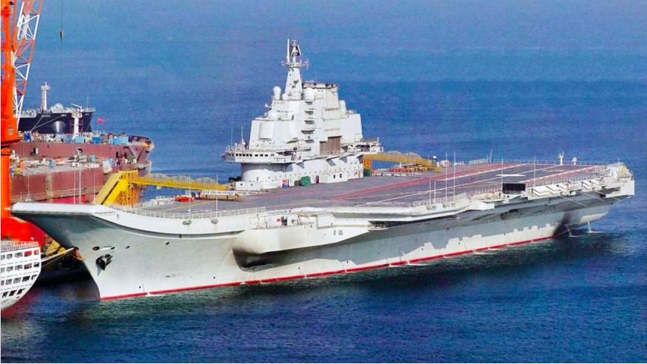 首艘大陸國產航母將在23日前後首次試航。(搜狐新聞網)