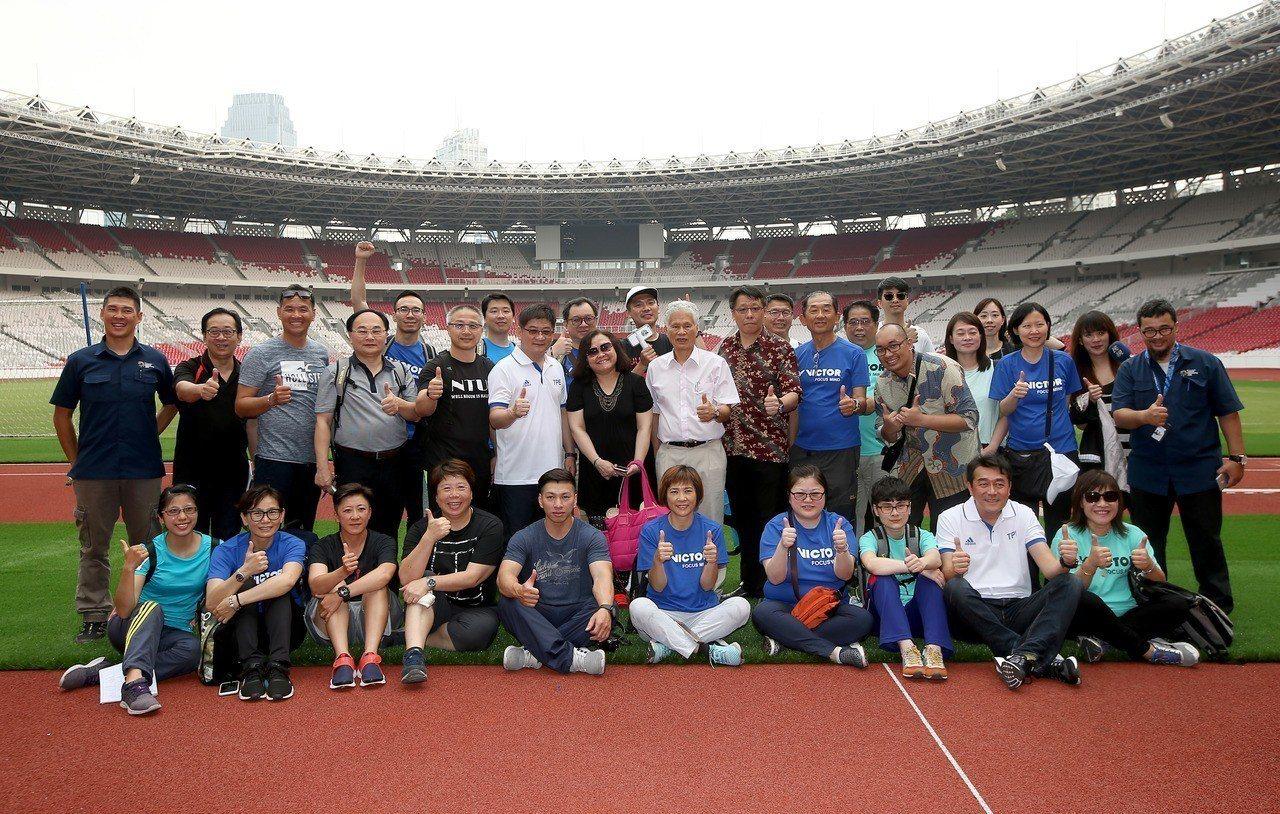 體育署與中華奧會組成雅加達亞運考察團,昨天飛抵印尼,今天起視察競賽場館。記者余承...