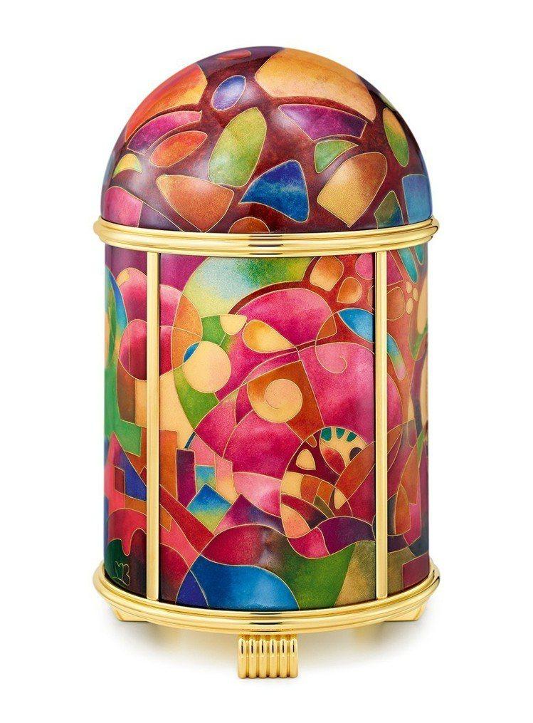 編號20058M的圓頂座鐘「Cubist Fantasy」(立體派幻想),大明火...