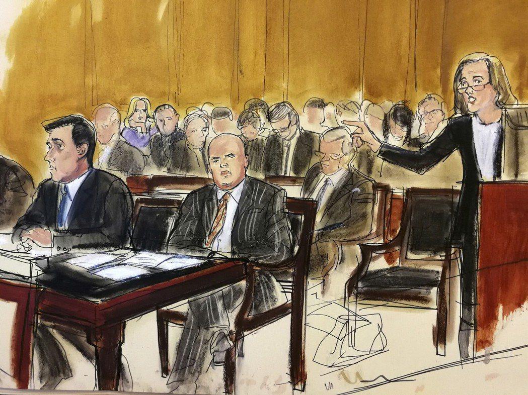 柯恩的律師(站者)16日在紐約聯邦法庭力爭,有權先審閱被聯邦抄走的川普律師柯恩的...
