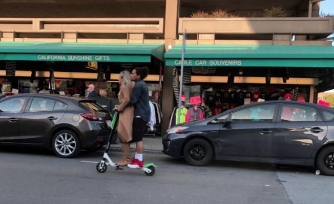 舊金山禁止電動滑板車出租,但業者繼續營業。 圖擷自NBC Bay Area