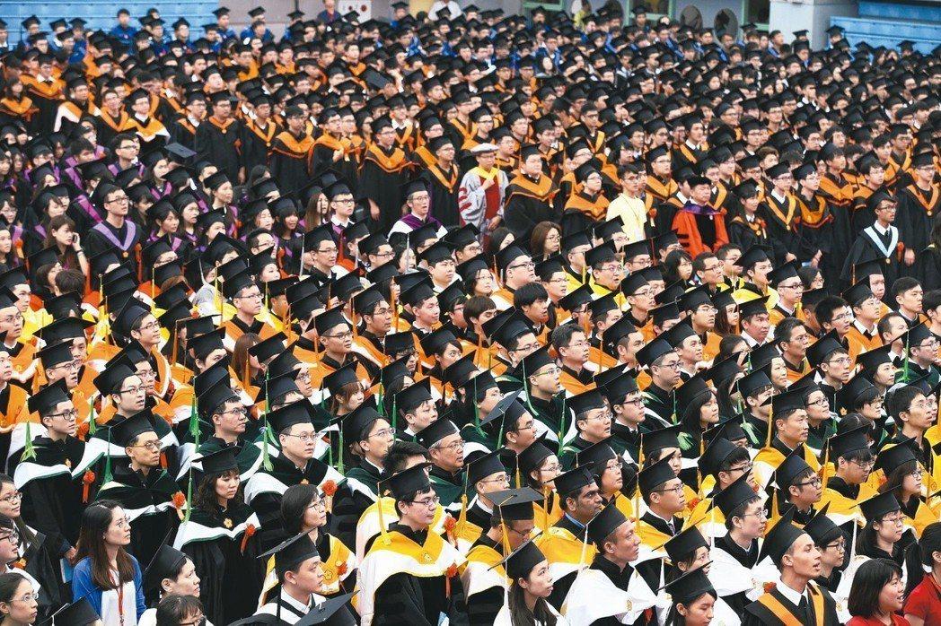 在少子化趨勢下,全台碩博士班數量卻逐年成長,碩士班數量甚至超過全家超商。 圖/聯...