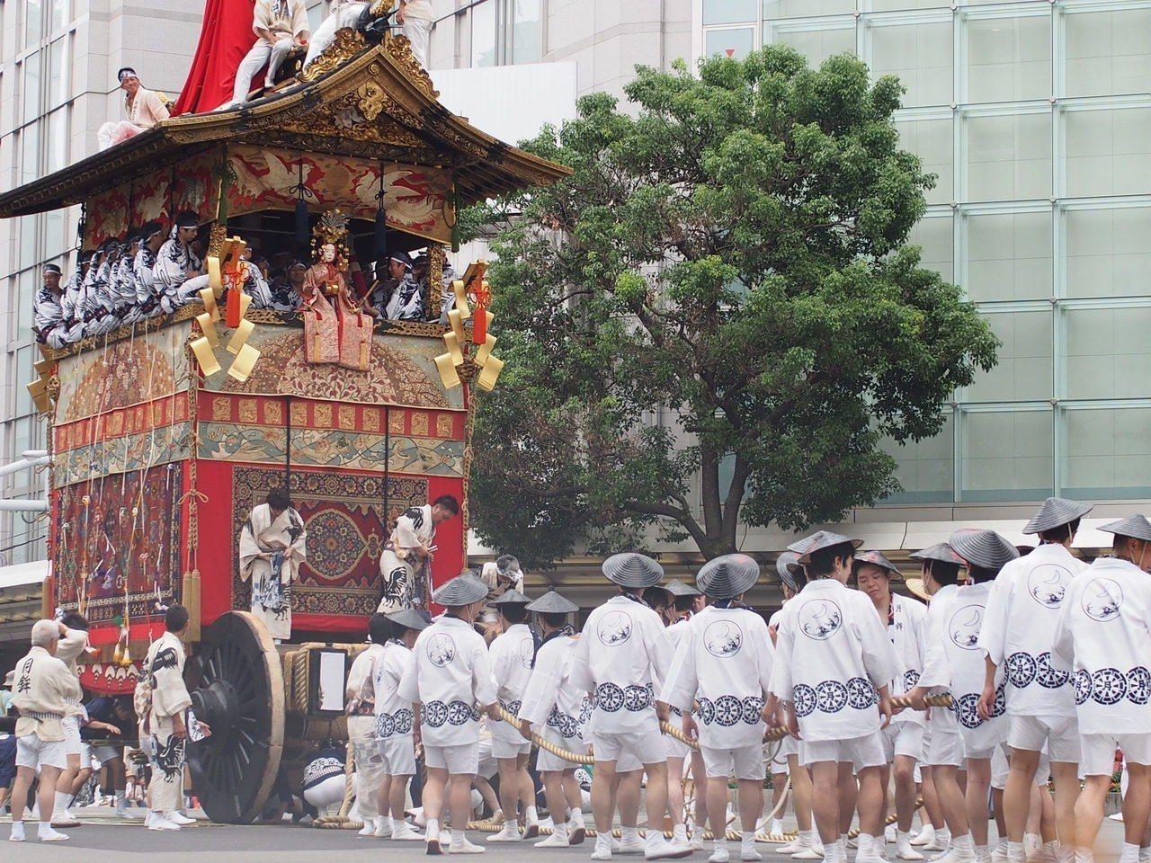祇園祭山鉾巡行。記者林秀姿/攝影