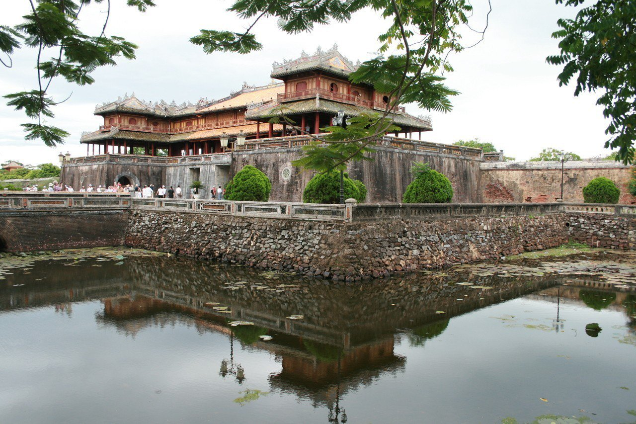 順化皇城一隅,充滿濃濃的中國風景。記者羅建怡攝影