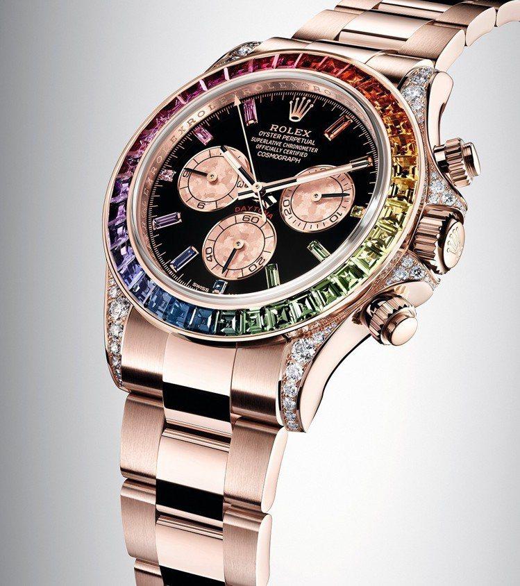 蠔式錶殼保證防水100米,鏡面以藍水晶製造,不易刮損。 圖/勞力士 提供