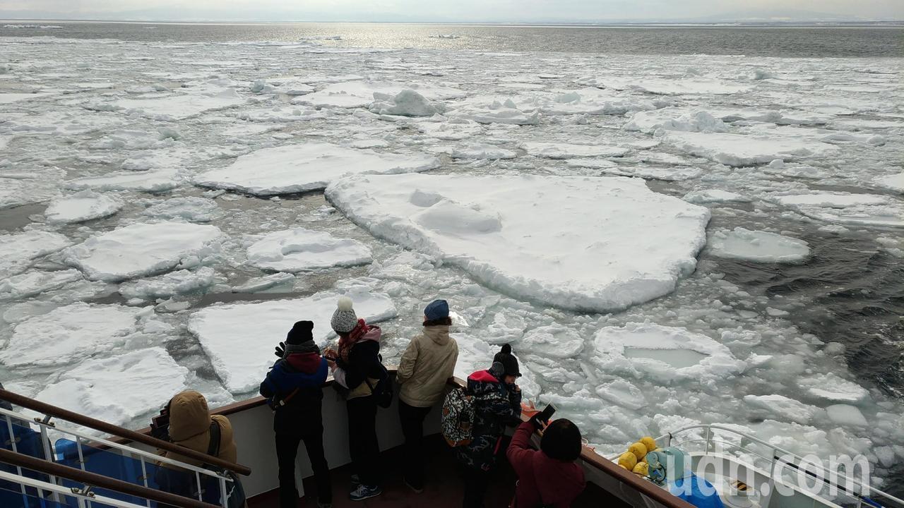 日本北海道網走流冰。記者楊德宜/攝影