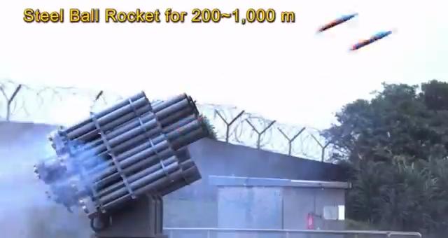 中科院岸置的複合式火箭系統。擷自中科院影片