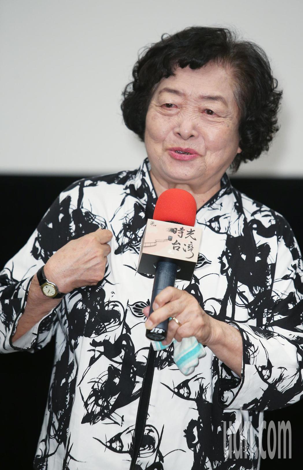 「時光台灣」紀錄短片首映會,演員劉引商出席。記者陳正興/攝影