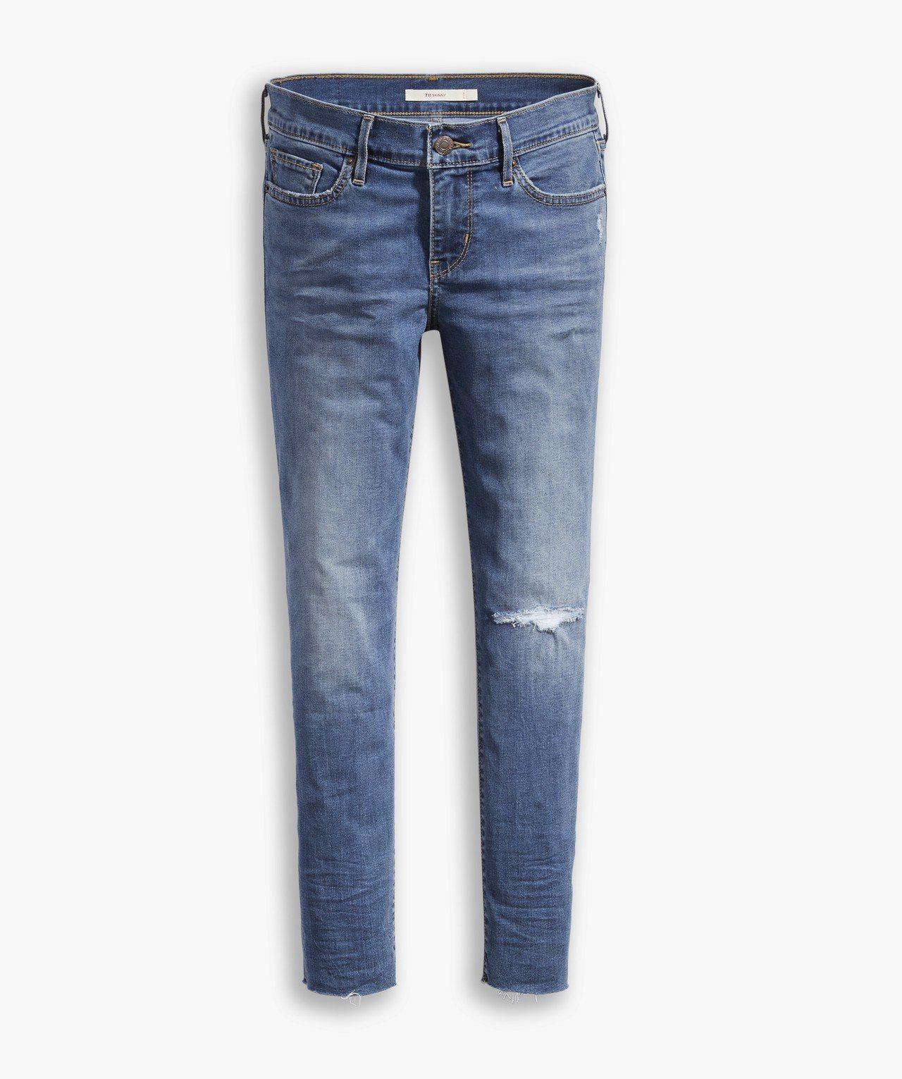 Cool Jeans系列711女款中腰緊身窄管七分褲,約3,790元。圖/Lev...