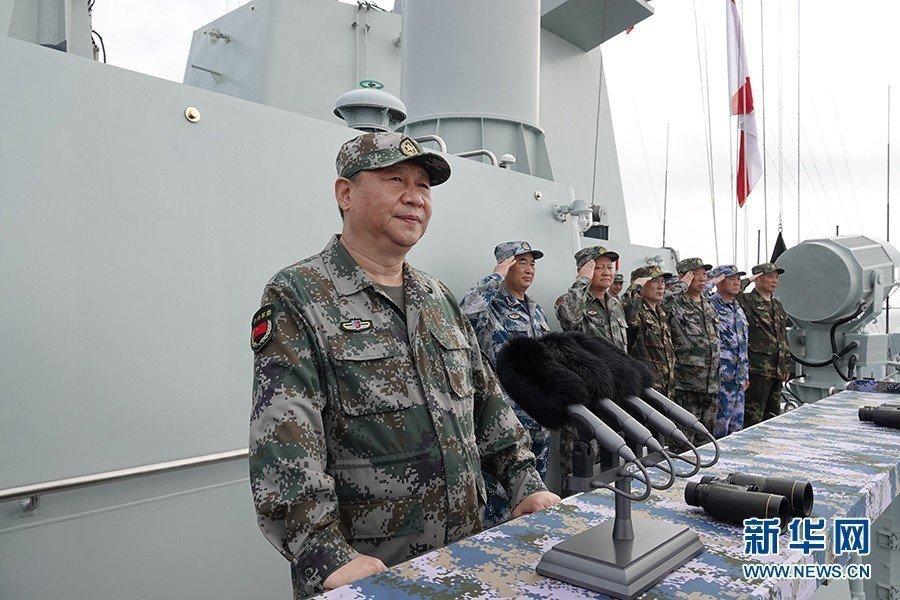 中共中央總書記、國家主席、中央軍委主席習近平,12日在南海檢閱海軍。新華社