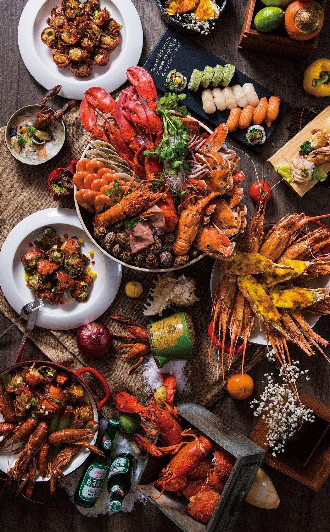 「凱達大飯店」百宴自助餐廳,即日起至5/10,周一至周四晚餐時段,限時推出海鮮之...