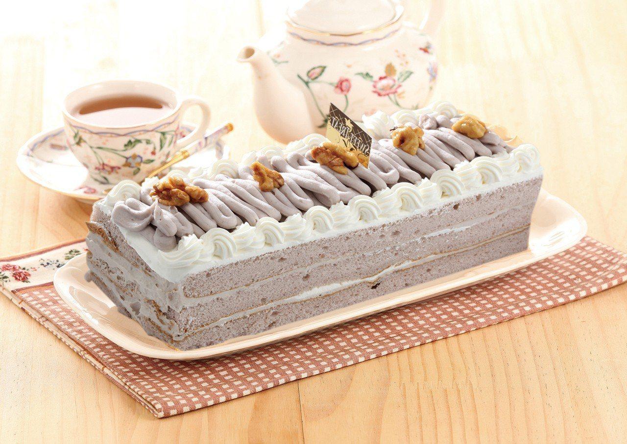 愛買芋香長條蛋糕,售價188元。圖/愛買提供