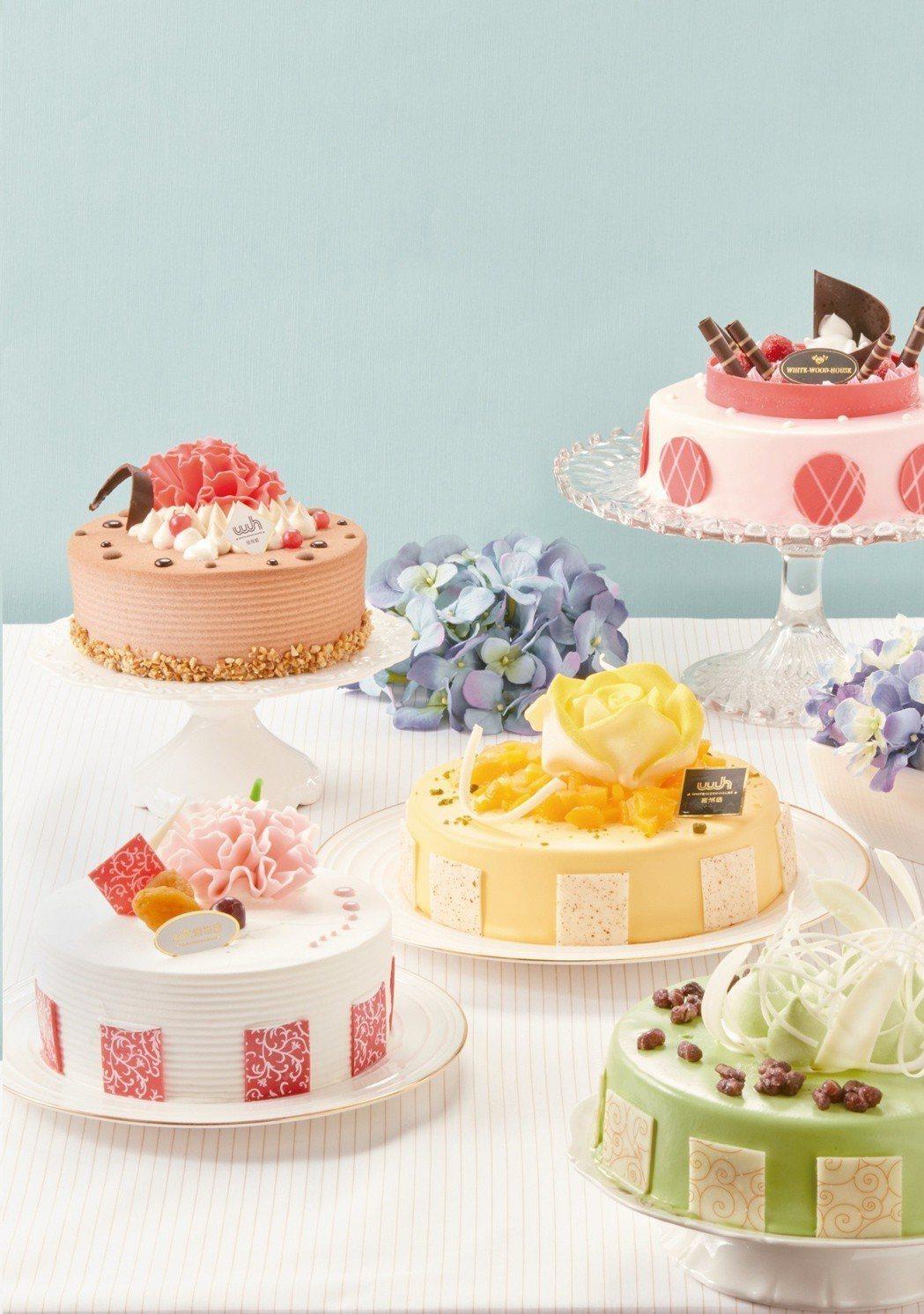 OK超商推出花系列蛋糕。圖/OK超商提供