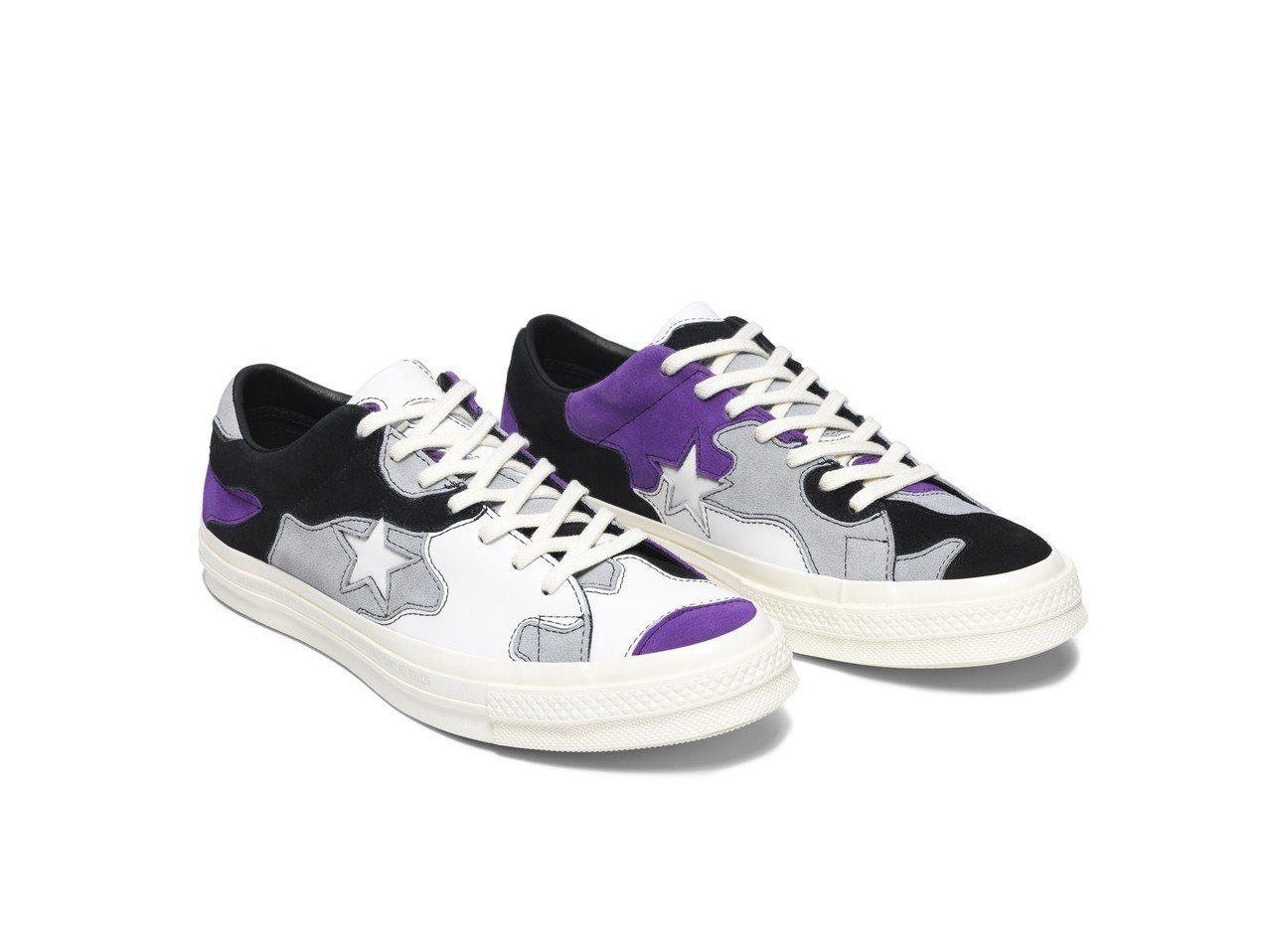 Converse OneStar SNS系列深薰衣草紫限量鞋,約3,480元。圖...